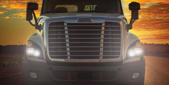 TruckLite Cascadia_LED_Sunset