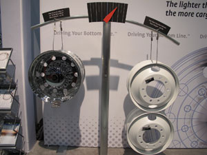 alcoa said its dura-bright wheels are lighter, brighter and stronger than competitive aluminum and steel wheels.