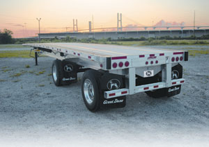 great dane trailers launched its new mxp-120 all-aluminum flatbed.