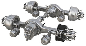 a lightweight enhancement to meritor's new 14x axle family is a 100-lb. lighter aluminum carrier option, available in 2012.