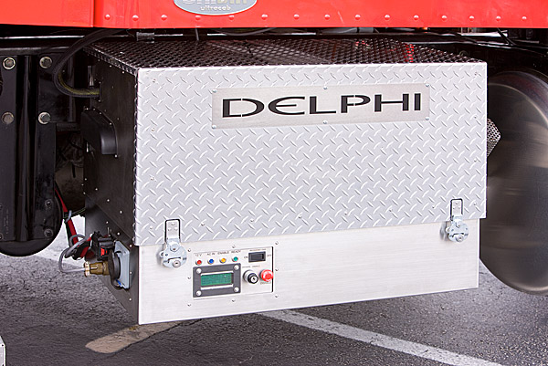 Delphi and Peterbilt successfully power truck cab and sleeper with